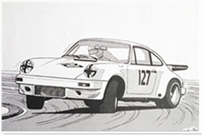 Nick Faure logo Carrera 3.0 RS lightweight 1974
