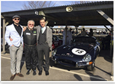 Nick Faure and sons Goodwood Members meeting March 2014, Jaguar E-Type