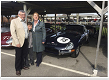 The owners of the racing E-type (The Binfields) Goodwood March 2014